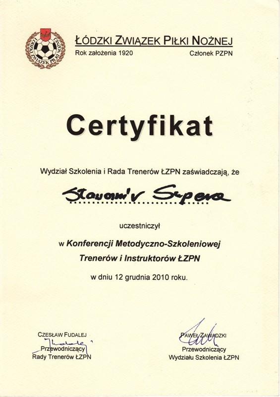certyfikat ŁZPN