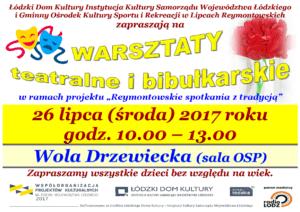 WARSZTATY  teatralne i bibułkarskie - Wola Drzewiecka @ Wola Drzewiecka