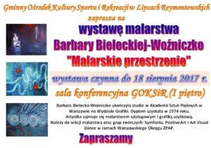 """Wystawa malarstwa  Barbary Bieleckiej-Woźniczko  """"Malarskie przestrzenie"""" @ Reymonta 24"""
