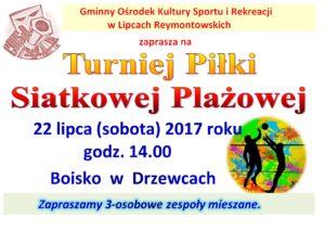 Turniej Piłki Siatkowej Plażowej @ Drzewce